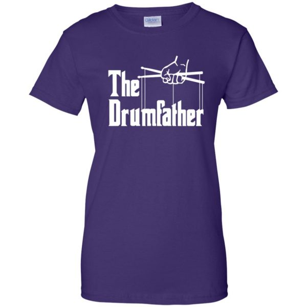 The Drumfather womens t shirt - lady t shirt - purple