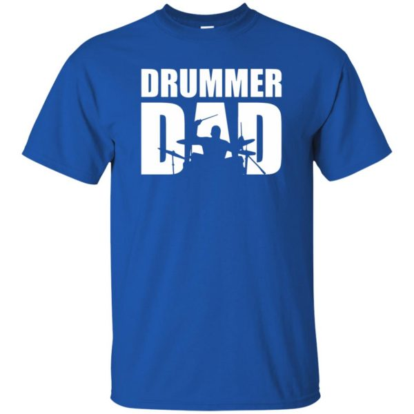 Drummer Dad t shirt - royal blue