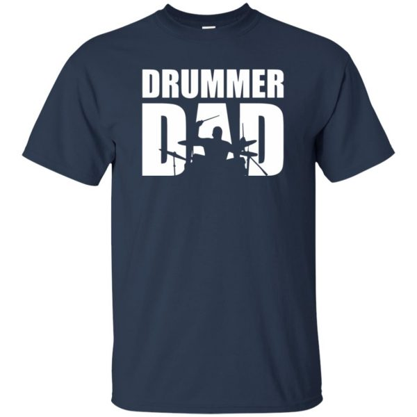 Drummer Dad t shirt - navy blue