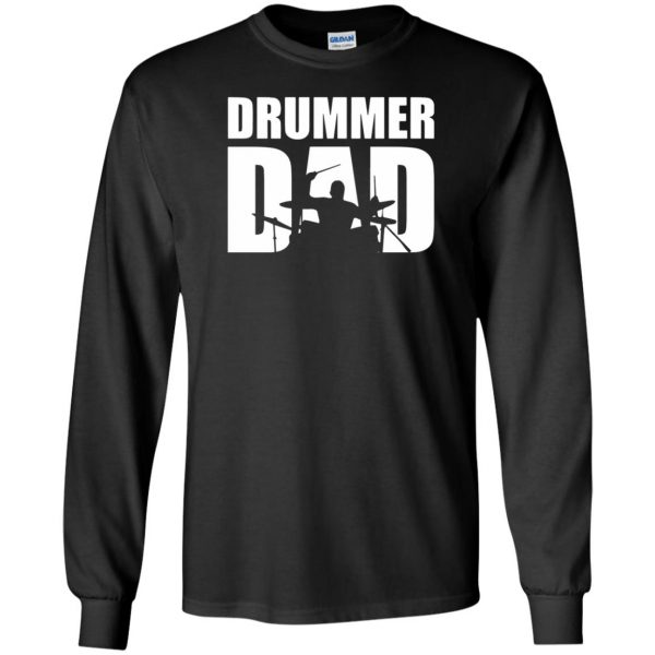 Drummer Dad long sleeve - black