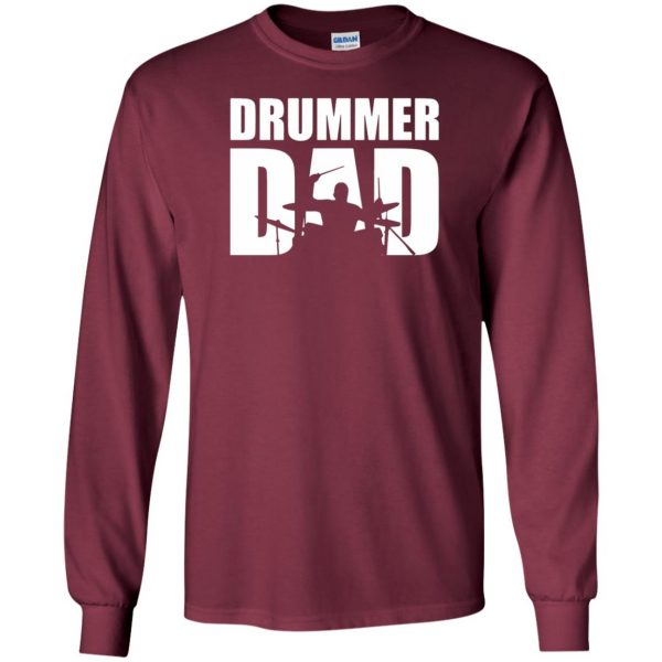 Drummer Dad long sleeve - maroon