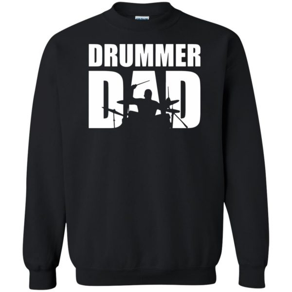 Drummer Dad sweatshirt - black