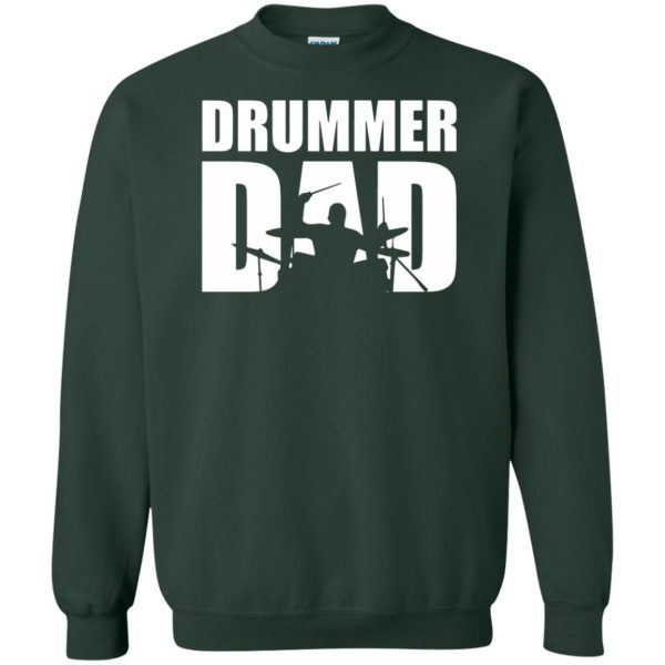 Drummer Dad sweatshirt - forest green