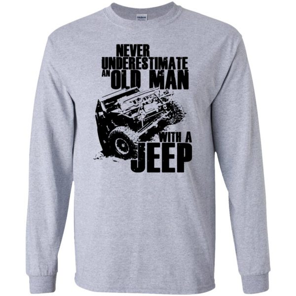 vintage jeep t shirts long sleeve - sport grey