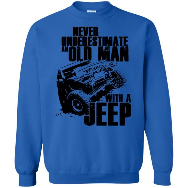 vintage jeep t shirts sweatshirt - royal blue