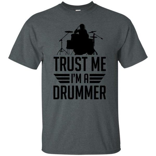 Trust Me I'm A Drummer t shirt - dark heather
