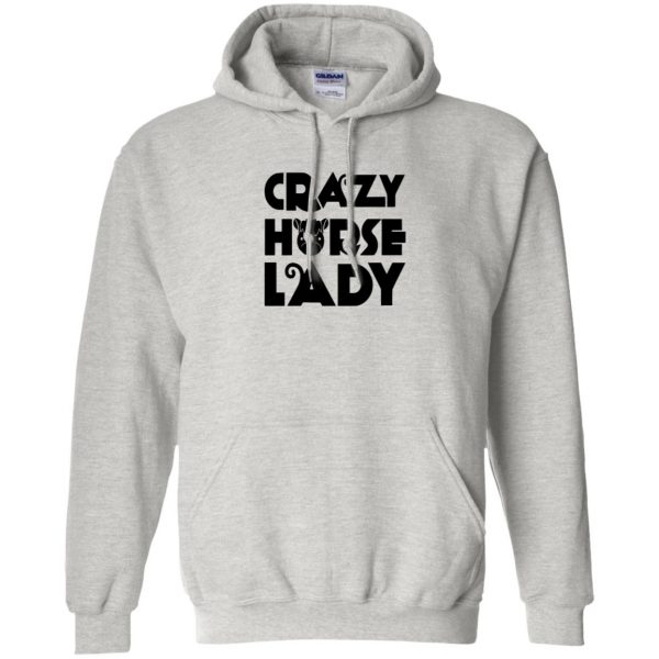 crazy horse t shirt hoodie - ash