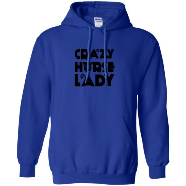 crazy horse t shirt hoodie - royal blue