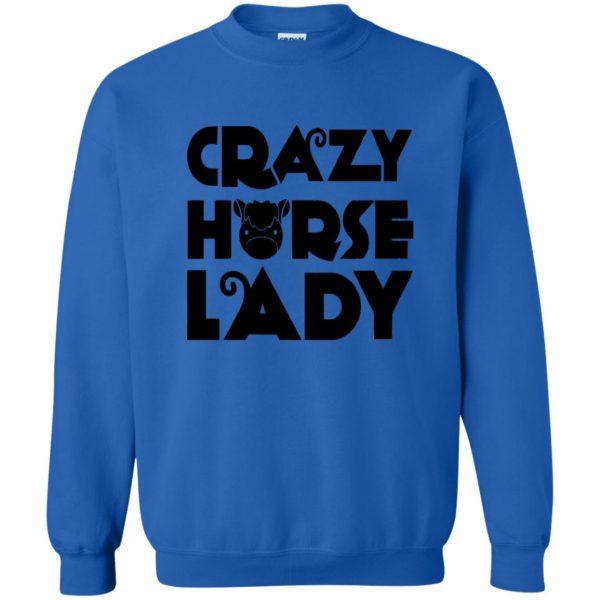 crazy horse t shirt sweatshirt - royal blue