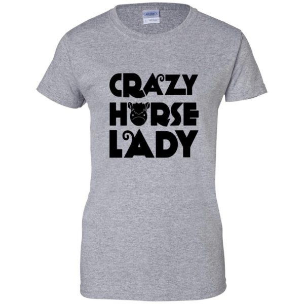crazy horse t shirt womens t shirt - lady t shirt - sport grey