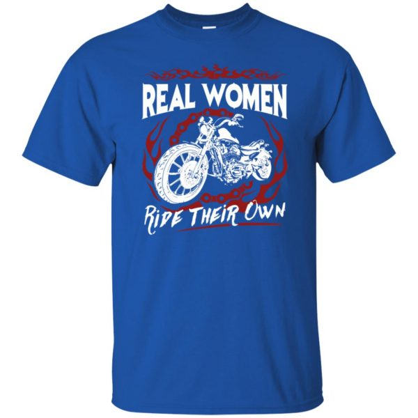 womens biker t shirts t shirt - royal blue