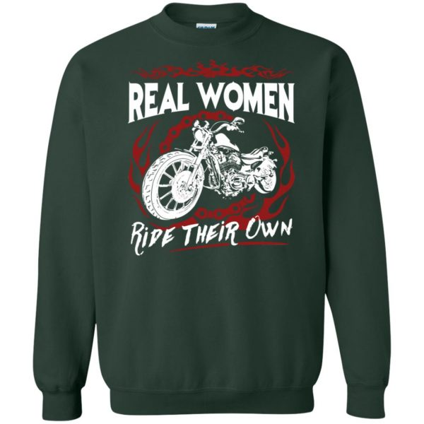 womens biker t shirts sweatshirt - forest green