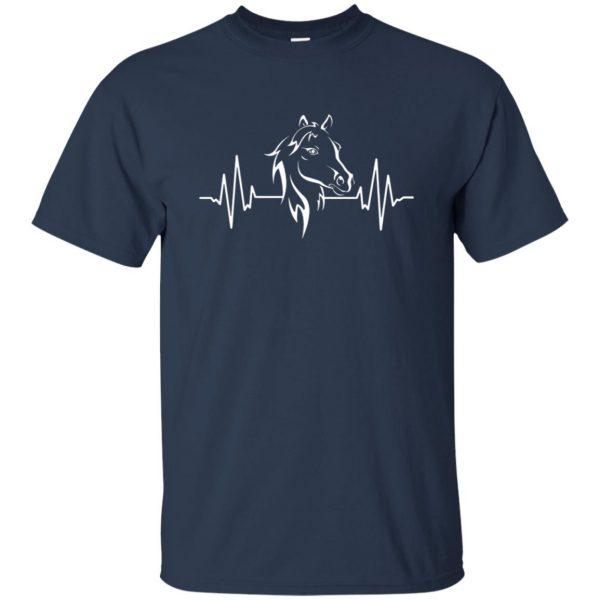 horse heartbeat shirt t shirt - navy blue