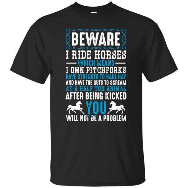 Beware I Ride Horses - black