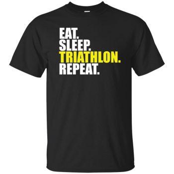 Eat Sleep Triathlon Repeat - black