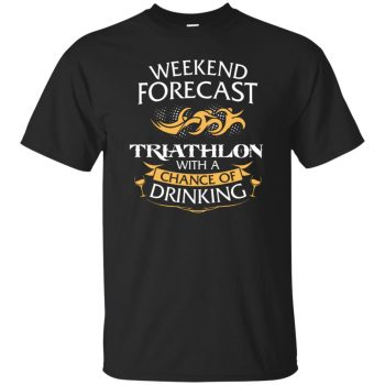 Weekend Forecast Triathlon With A Chance Of Drinking - black