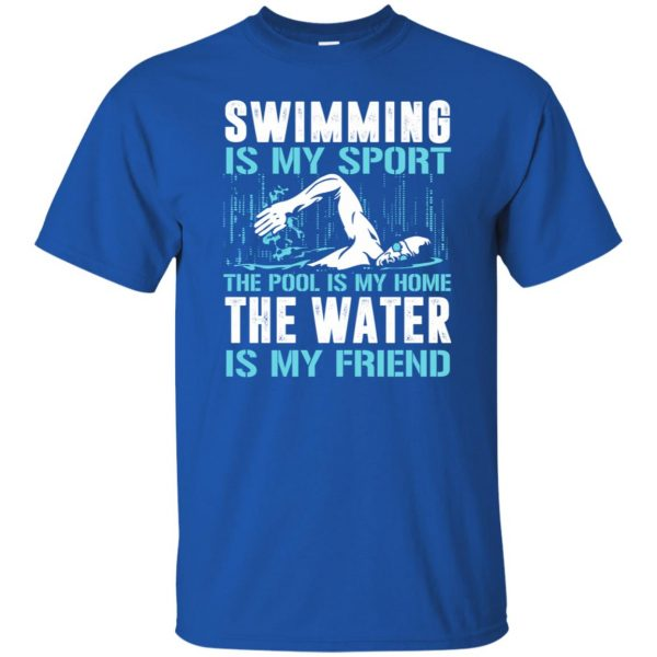 Swimming is my sport t shirt - royal blue