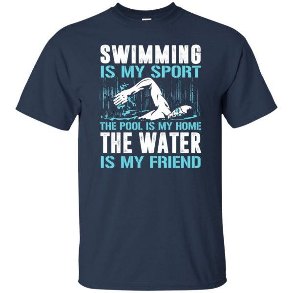 Swimming is my sport t shirt - navy blue