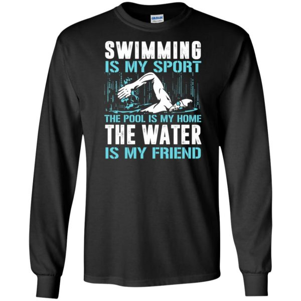Swimming is my sport long sleeve - black