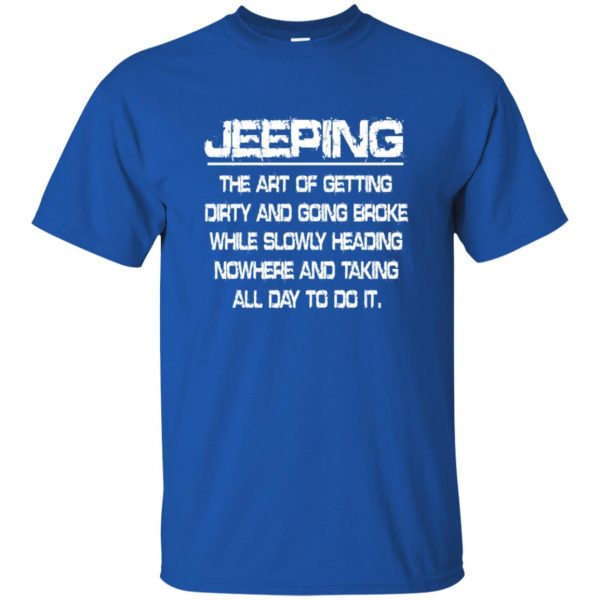 Jeeping - Definition t shirt - royal blue