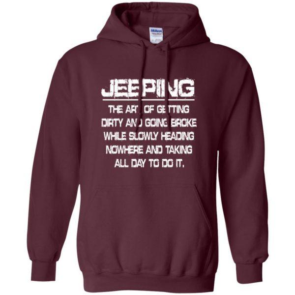Jeeping - Definition hoodie - maroon