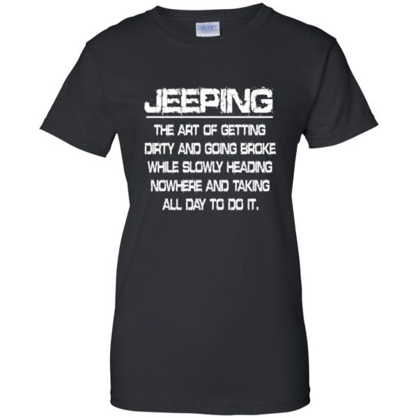 Jeeping - Definition womens t shirt - lady t shirt - black