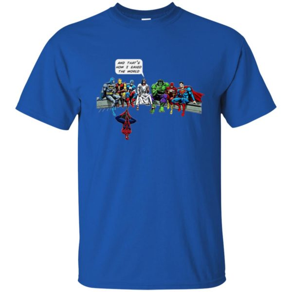 jesus superhero shirt t shirt - royal blue