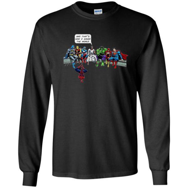 jesus superhero shirt long sleeve - black