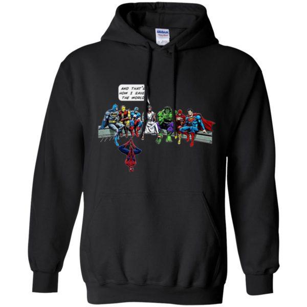 jesus superhero shirt hoodie - black
