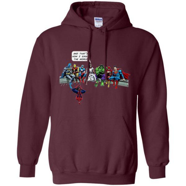 jesus superhero shirt hoodie - maroon