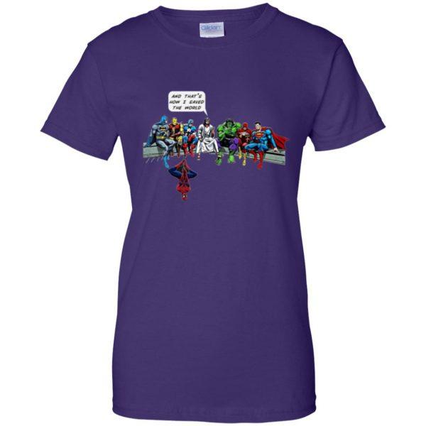 jesus superhero shirt womens t shirt - lady t shirt - purple