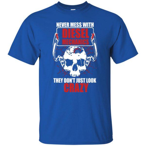 diesel mechanic shirts t shirt - royal blue
