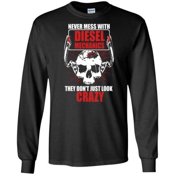 diesel mechanic shirts long sleeve - black