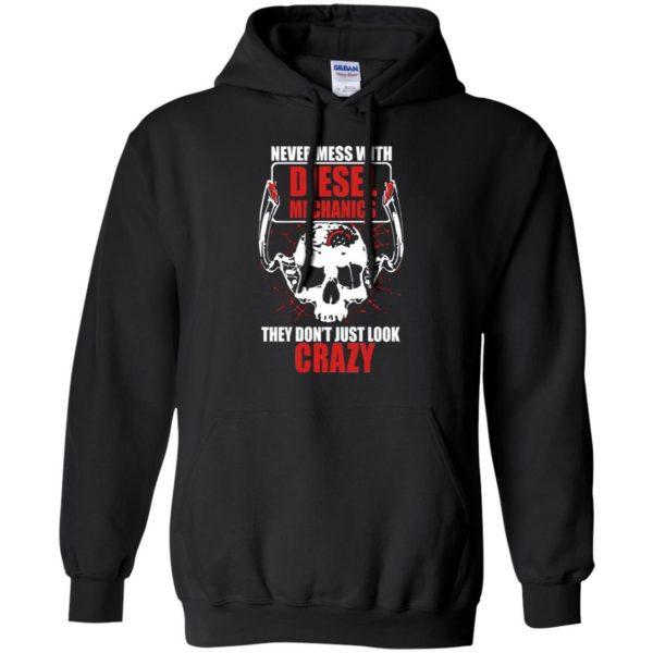 diesel mechanic shirts hoodie - black