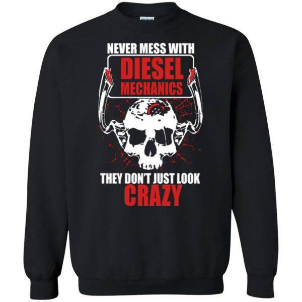 diesel mechanic shirts sweatshirt - black