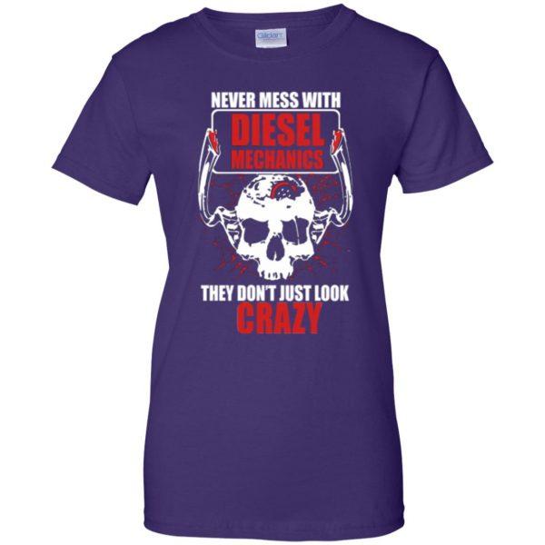diesel mechanic shirts womens t shirt - lady t shirt - purple