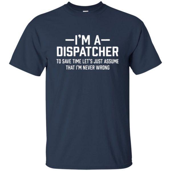 dispatcher t shirts t shirt - navy blue
