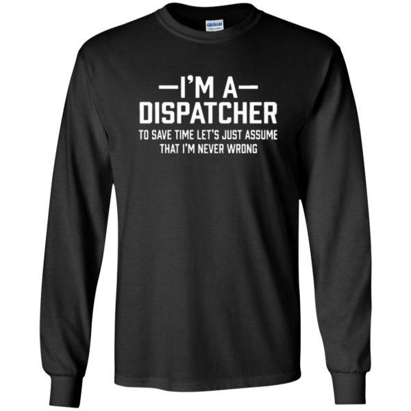 dispatcher t shirts long sleeve - black