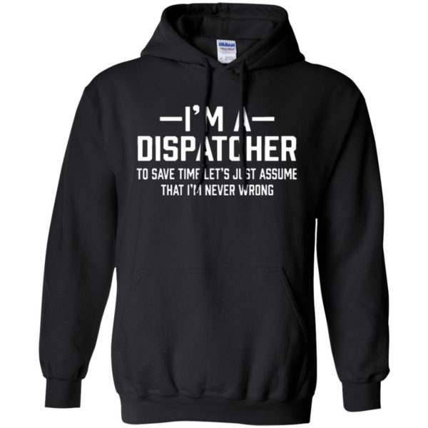 dispatcher t shirts hoodie - black