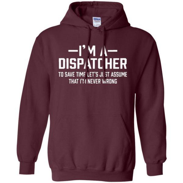 dispatcher t shirts hoodie - maroon