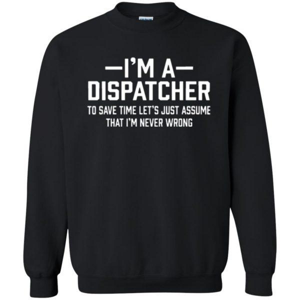 dispatcher t shirts sweatshirt - black