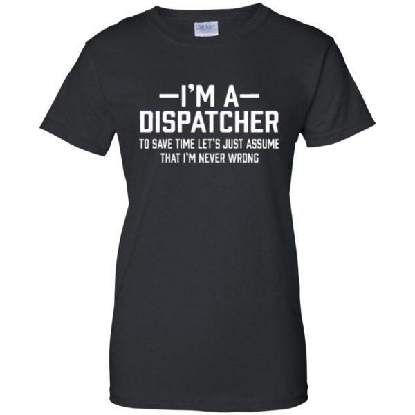 dispatcher t shirts womens t shirt - lady t shirt - black