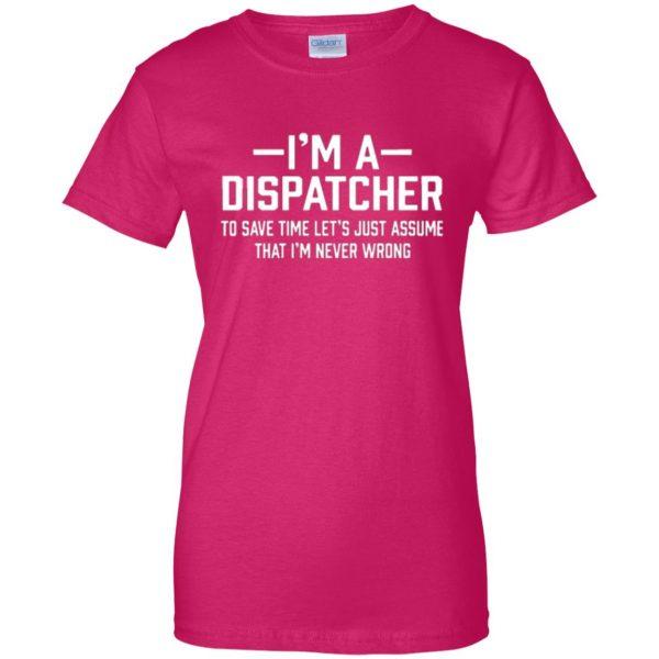 dispatcher t shirts womens t shirt - lady t shirt - pink heliconia
