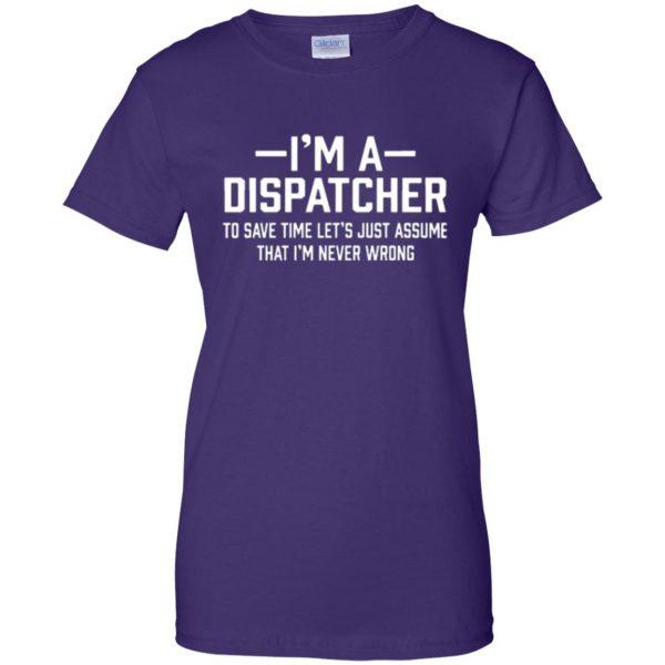 dispatcher t shirts womens t shirt - lady t shirt - purple