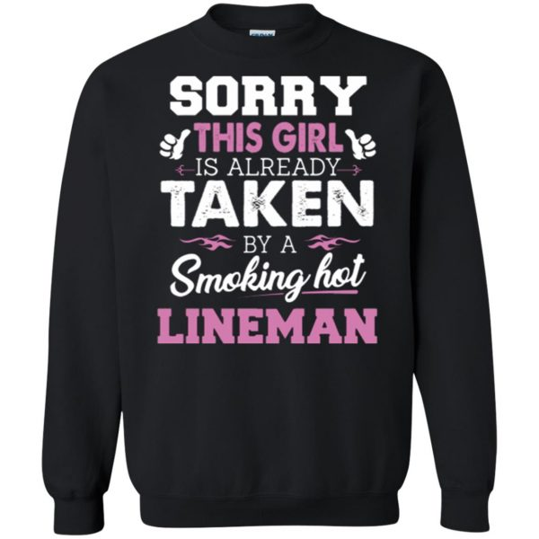 lineman wife shirts sweatshirt - black