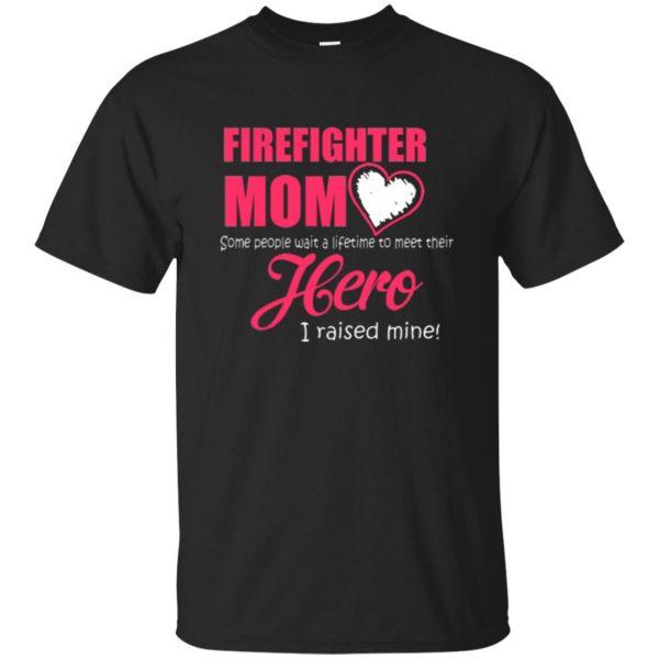 firefighter mom - black