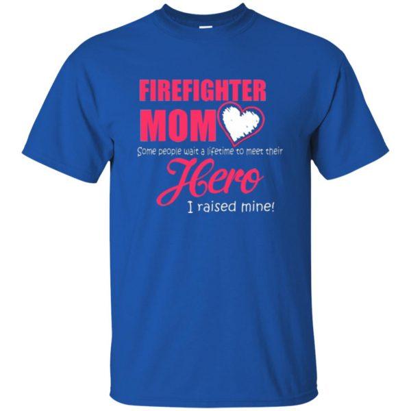 firefighter mom shirt t shirt - royal blue