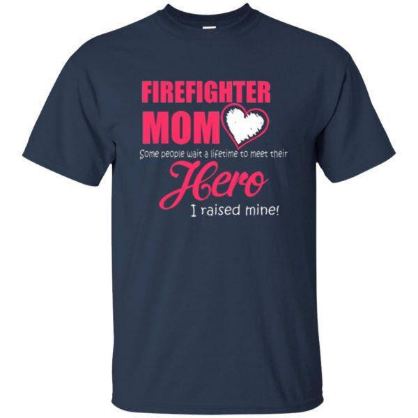 firefighter mom shirt t shirt - navy blue