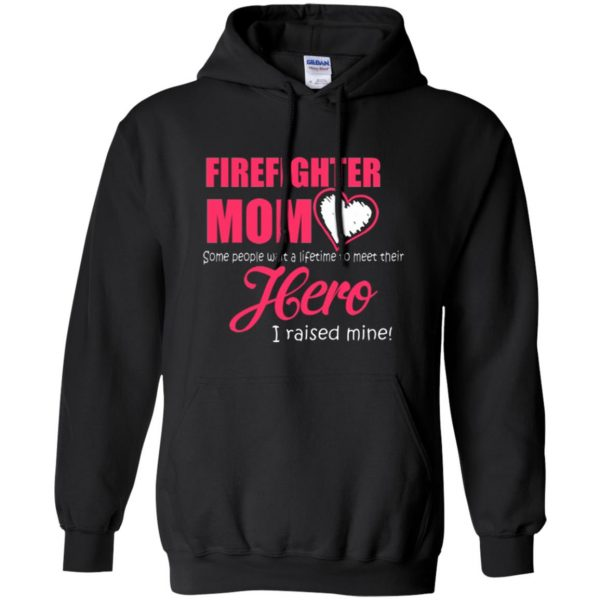firefighter mom shirt hoodie - black