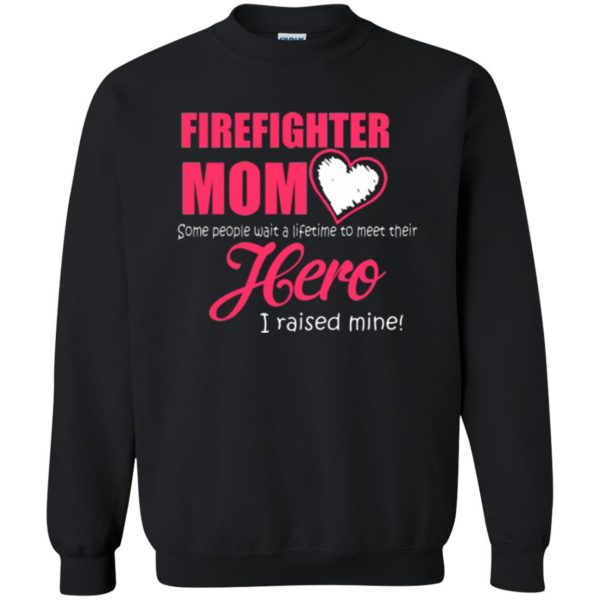 firefighter mom shirt sweatshirt - black